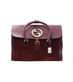 GUCCI VINTAGE BORDEAUX BOSTON BAG グッチ ヴィンテージ ボルドー