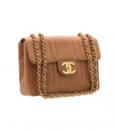 CHANEL VINTAGE JUMBO CAMEL SHOULDER BAG シャネル ヴィンテー