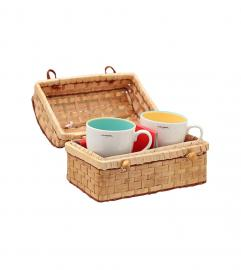 LANCEL VINTAGE MUG SET W. BASKET BAG ランセル ヴィンテージ